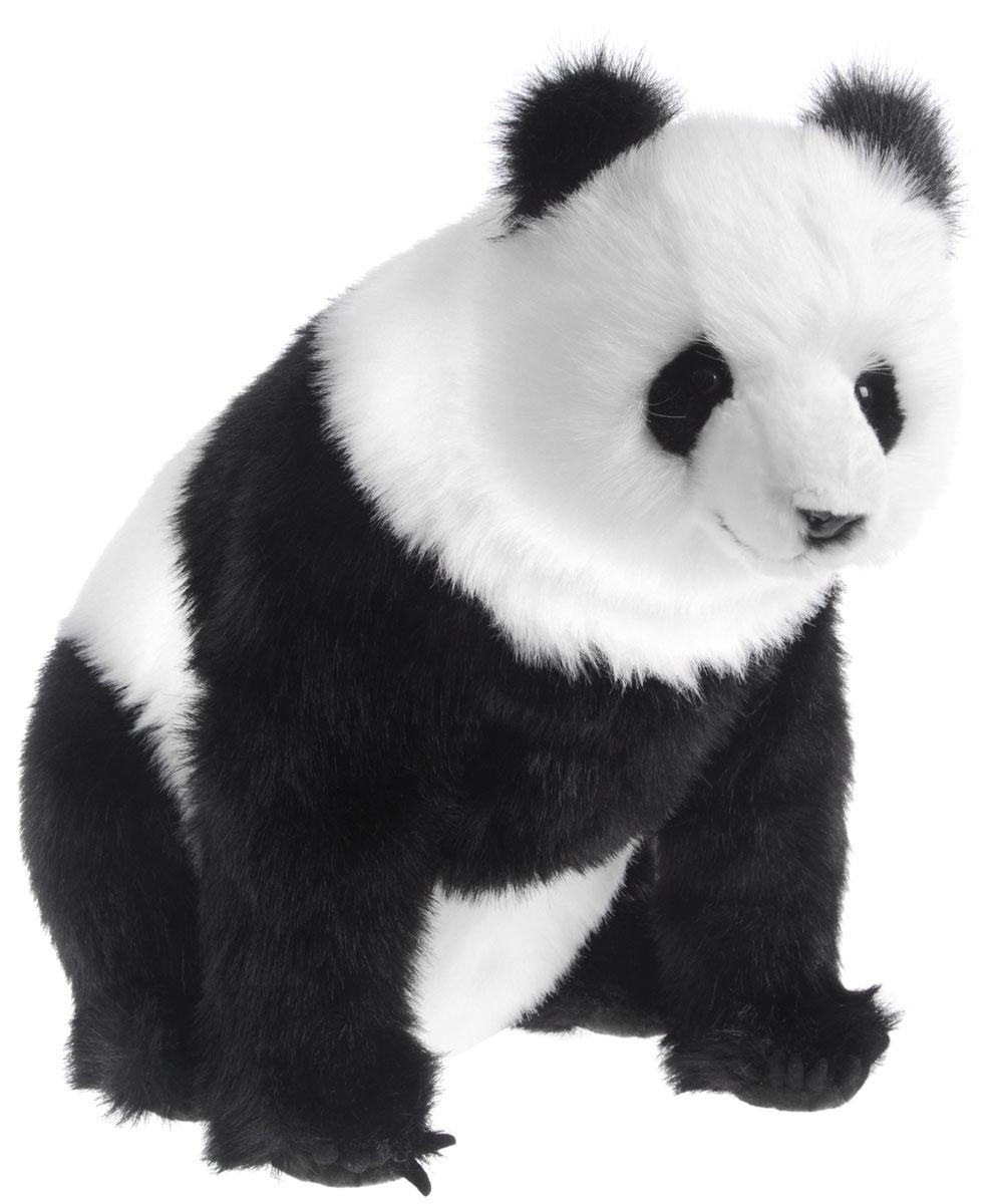 Hansa Toys Мягкая игрушка Панда 45 см3854Панда или бамбуковый медведь. Как правило, панды живут парами или небольшими группами в бамбуковых лесах в горных районах центрального Китая - Сычуань и Тибет. Детеныши появляются на свет поздней зимой. Живут большие панды в непроходимых бамбуковых лесах. Густые заросли бамбука, достигающие в высоту 3-4 метров, обеспечивают панду укрытиями и запасами пищи. Большая панда является исчезающим видом с постоянно уменьшающимся размером популяции и низким уровнем рождаемости, как в дикой природе, так и при содержании в неволе. Мягкая игрушка Hansa Toys Панда обязательно понравится вам и вашему малышу и познакомит вас с этим удивительным животным.