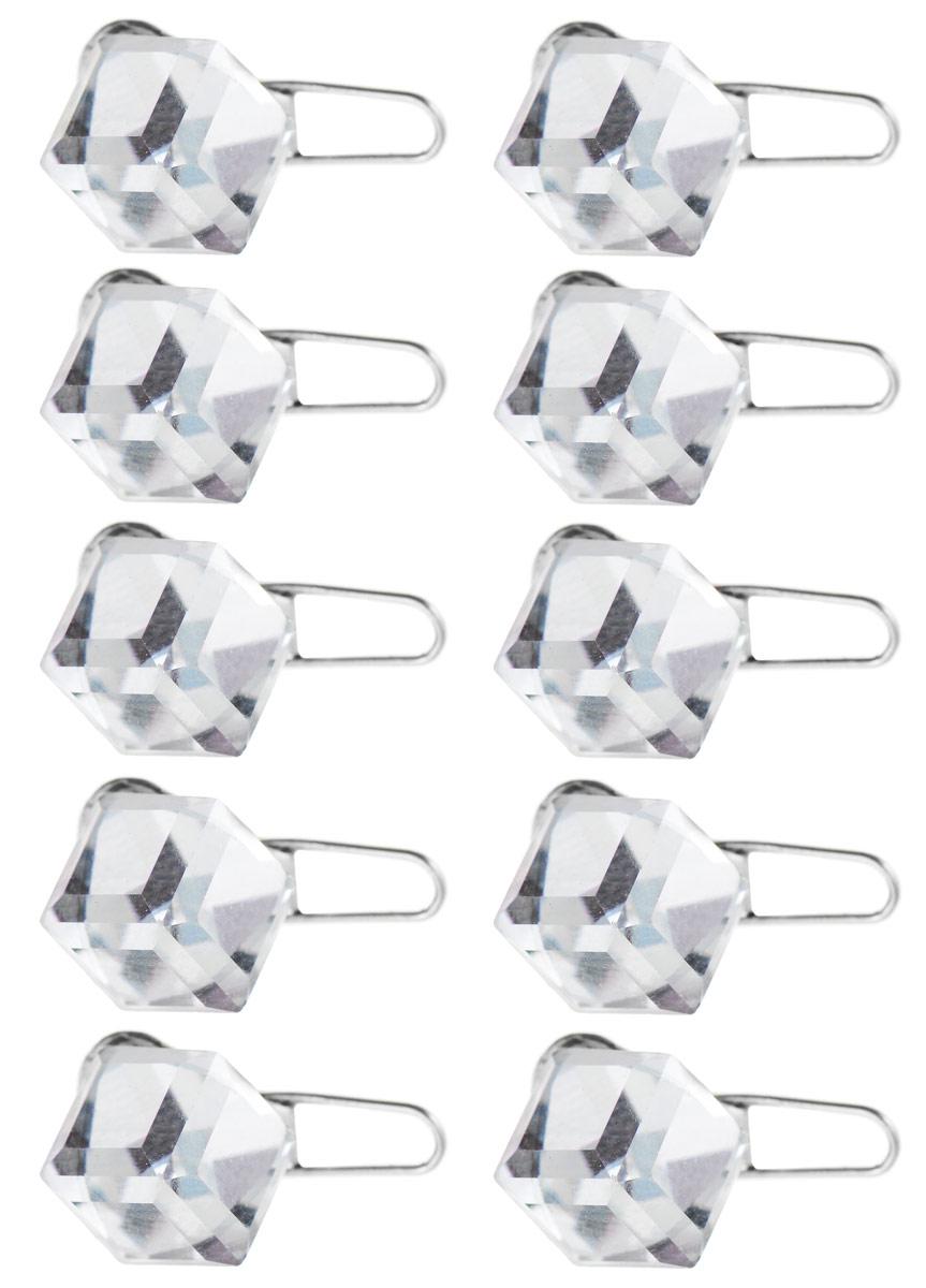 Набор украшений для волос Fashion House, цвет: серебряный, 10 шт. FH30622