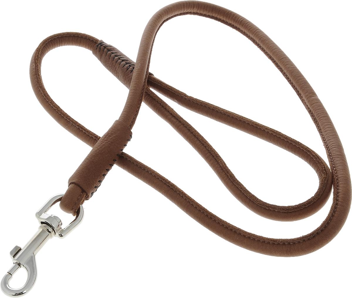 Поводок для собак CoLLaR SOFT, цвет: коричневый, диаметр 1 см, длина 1,22 м04846Поводок для собак CoLLaR SOFT изготовлен из натуральной кожи и снабжен металлическим карабином. Поводок отличается не только исключительной надежностью и удобством, но и ярким дизайном. Он идеально подойдет для активных собак, для прогулок на природе и охоты. Поводок - необходимый аксессуар для собаки. Ведь в опасных ситуациях именно он способен спасти жизнь вашему любимому питомцу. Длина поводка: 1,22 м. Диаметр поводка: 1 см.