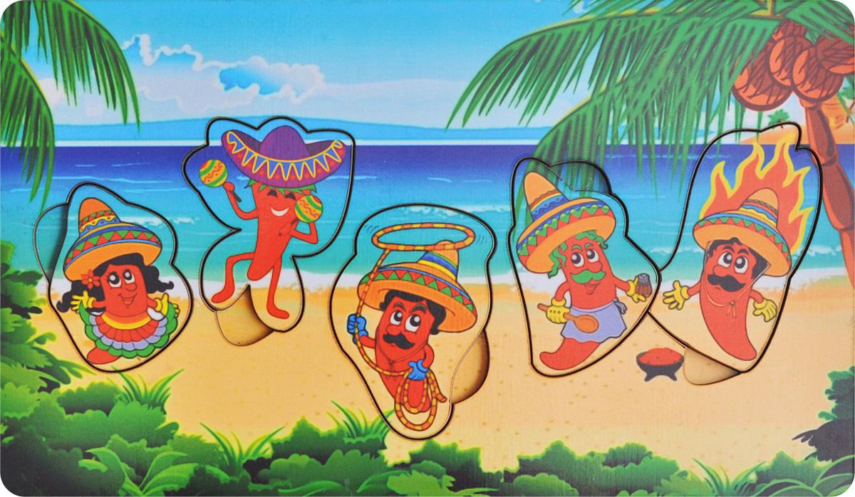 Фабрика Мастер игрушек Пазл для малышей МексикаIG0004Пазл для малышей Фабрика Мастер игрушек Мексика позволит развить мелкую моторику, координацию и ориентацию на плоскости; научит основам классификации. Пазл-вкладыш обогащает словарный запас ребенка, способствует целостному восприятию, расширяет представление малыша об окружающем мире и развивает любознательность.