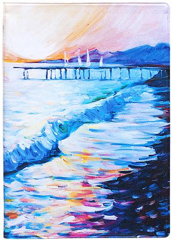 Обложка для паспорта Kawaii Factory Рассвет, цвет: голубой. KW064-000249KW064-000249