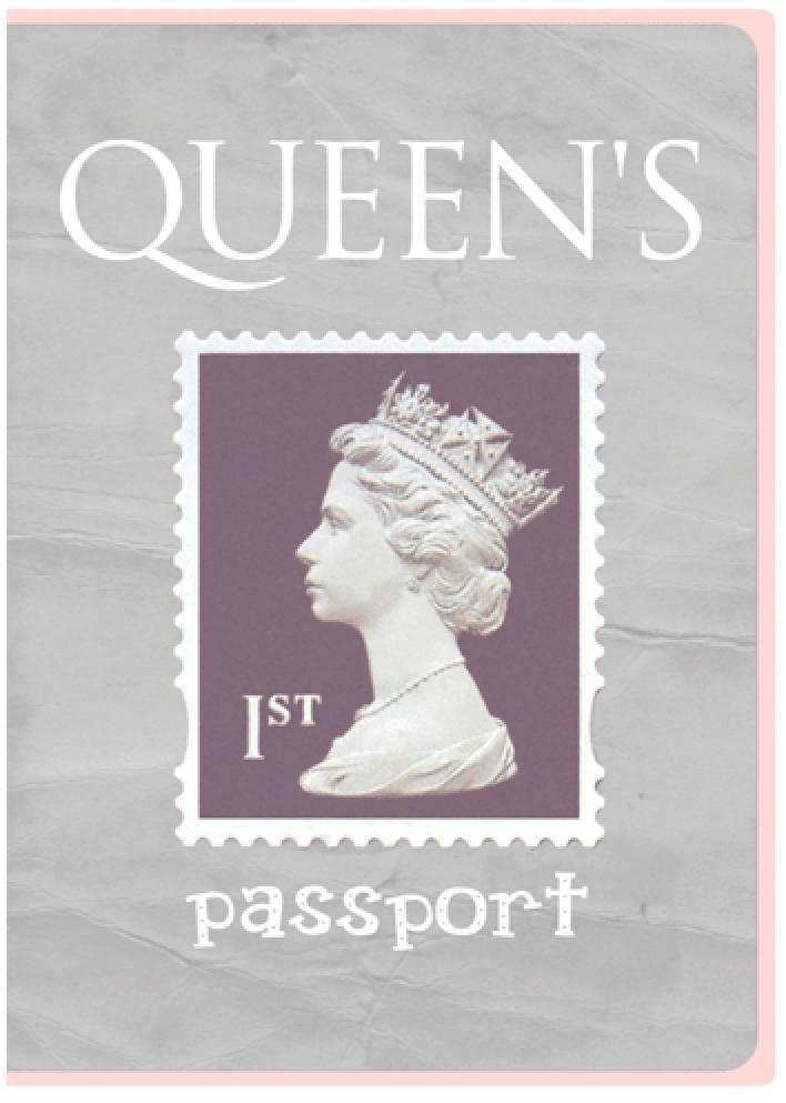 Обложка для паспорта Kawaii Factory Королева, цвет: серый. KW064-000067KW064-000067