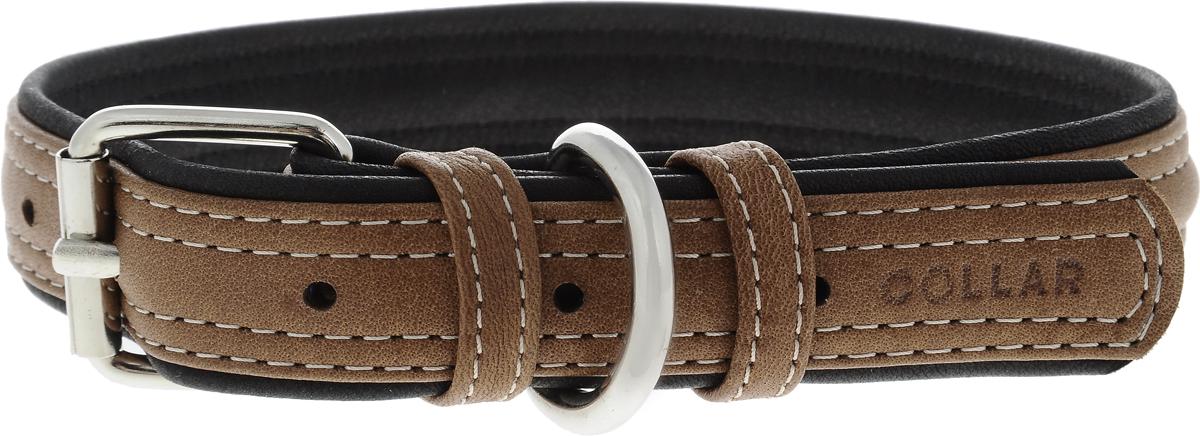 Ошейник для собак CoLLaR SOFT, цвет: коричневый, черный, ширина 2,5 см, обхват шеи 38-49 см7203Ошейник для собак CoLLaR SOFT изготовлен из высококачественной кожи. Он устойчив к влажности и перепадам температур. Сверхпрочные нити, крепкие металлические элементы делают ошейник надежным и долговечным. Обхват ошейника регулируется при помощи пряжки. Ошейник оснащен металлическим кольцом для крепления поводка. Изделие отличается высоким качеством, удобством и универсальностью. Минимальный обхват шеи: 38 см. Максимальный обхват шеи: 49 см. Ширина ошейника: 2,5 см. Длина ошейника: 54 см.