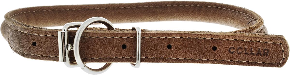 Ошейник для собак CoLLaR SOFT, цвет: коричневый, диаметр 1 см, обхват шеи 33-41 см00396Ошейник для собак CoLLaR SOFT, выполненный из натуральной кожи, устойчив к влажности и перепадам температур. Крепкие металлические элементы делают ошейник надежным и долговечным. Изделие отличается высоким качеством, удобством и универсальностью. Размер ошейника регулируется при помощи пряжки, зафиксированной на одном из 5 отверстий. Минимальный обхват шеи: 33 см. Максимальный обхват шеи: 41 см. Диаметр ошейника: 1 см.