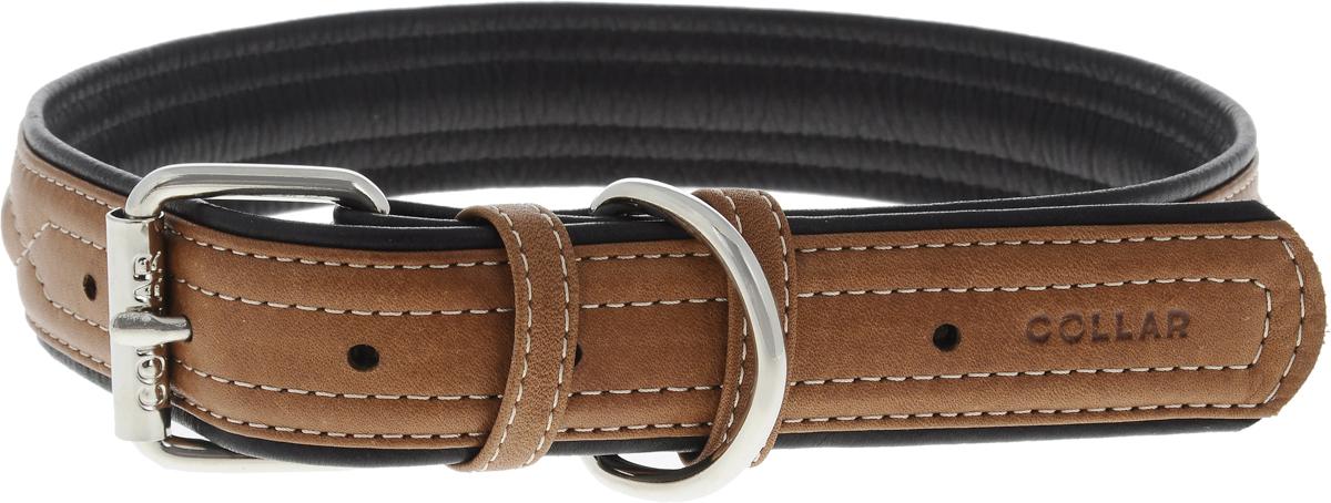 Ошейник для собак CoLLaR SOFT, цвет: коричневый, ширина 3,5 см, обхват шеи 57-71 см7217Ошейник для собак CoLLaR SOFT изготовлен из высококачественной кожи. Он устойчив к влажности и перепадам температур. Сверхпрочные нити, крепкие металлические элементы делают ошейник надежным и долговечным. Обхват ошейника регулируется при помощи пряжки. Ошейник оснащен металлическим кольцом для крепления поводка. Изделие отличается высоким качеством, удобством и универсальностью. Минимальный обхват шеи: 57 см. Максимальный обхват шеи: 71 см. Ширина ошейника: 3,5 см. Длина ошейника: 77 см.