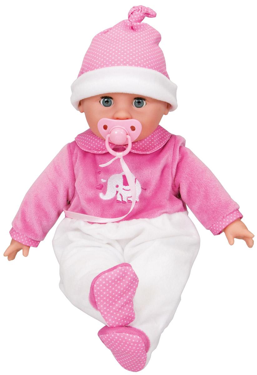 Simba Пупс озвученный New Born Laura5149466Озвученный пупс Simba New Born. Laura - маленькая привлекательная кукла, которая станет отличным подарком для девочки. Эта игрушка имеет основные критерии, которые привлекают девочку. Кукла очень симпатичная и милая. Ее глаза могут закрываться, когда она ложиться спать, она может сосать пустышку (звуковые эффекты) и плакать или смеяться. Тело куклы мягконабивное. С таким пупсом ребенок с удовольствием выйдет на прогулку или будет играть дома. Пупс поможет развить в ребенке чувство бережного отношения и заботы, даст возможность почувствовать себя старше и просто развлечет. Рекомендуется докупить 3 батарейки напряжением 1,5V типа R44/AG13 (товар комплектуется демонстрационными).