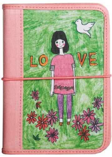 Обложка для паспорта Kawaii Factory Девочка-любовь, цвет: зеленый, розовый. KW064-000231KW064-000231