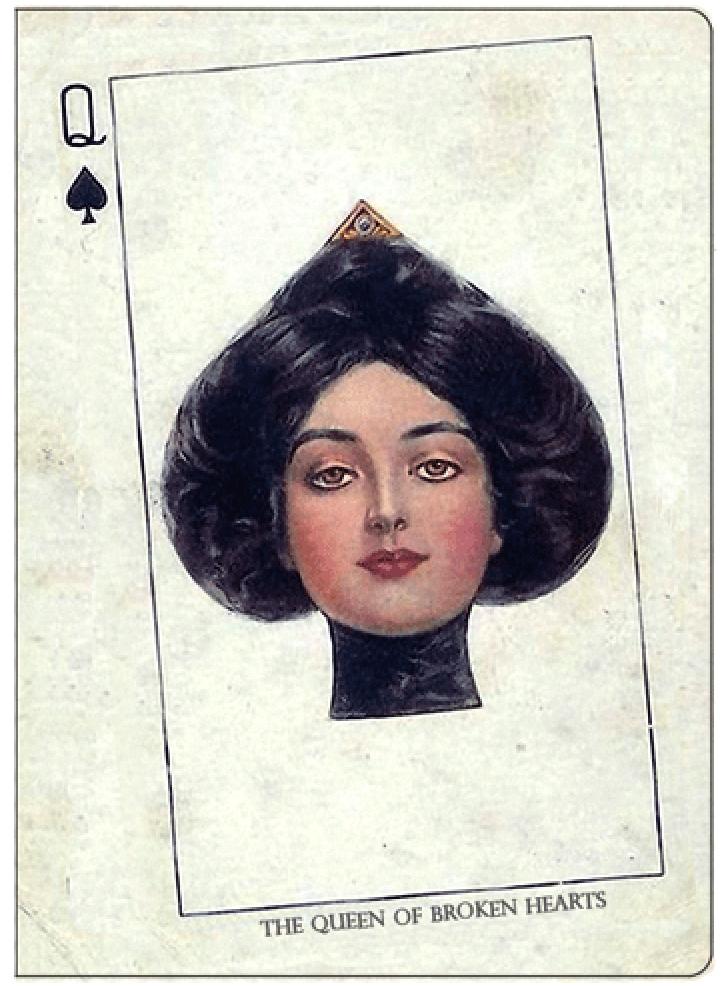 Обложка для паспорта Kawaii Factory The Queen of Broken Hearts, цвет: белый. KW064-000016KW064-000016