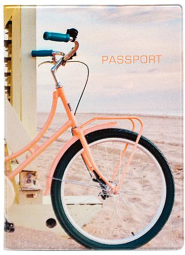 Обложка для паспорта Kawaii Factory Summer bike, цвет: бежевый. KW064-000203KW064-000203