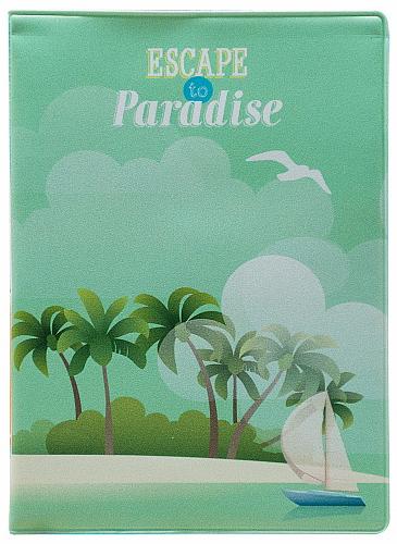 Обложка для паспорта Kawaii Factory Escape to Paradise, цвет: зеленый. KW064-000070KW064-000070