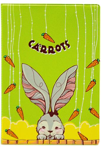 Обложка для паспорта Kawaii Factory Carrots, цвет: зеленый. KW064-000113KW064-000113