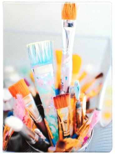 Обложка для паспорта Kawaii Factory Art brushes, цвет: белый. KW064-000029KW064-000029