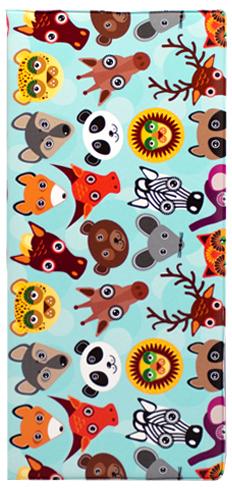 """Обложка для документов Kawaii Factory """"Zoo"""", цвет: голубой. KW066-000015"""