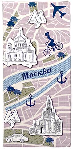 Обложка для документов Kawaii Factory Moscow, цвет: розовый, голубой. KW066-000009KW066-000009