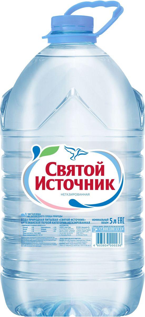 Святой Источник вода природная питьевая негазированная, 5 л