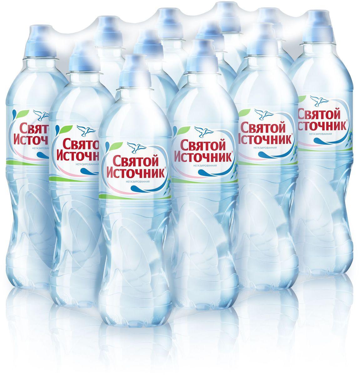 Святой Источник вода Спорт природная питьевая негазированная, 12 шт по 0,5 л 4603934000229