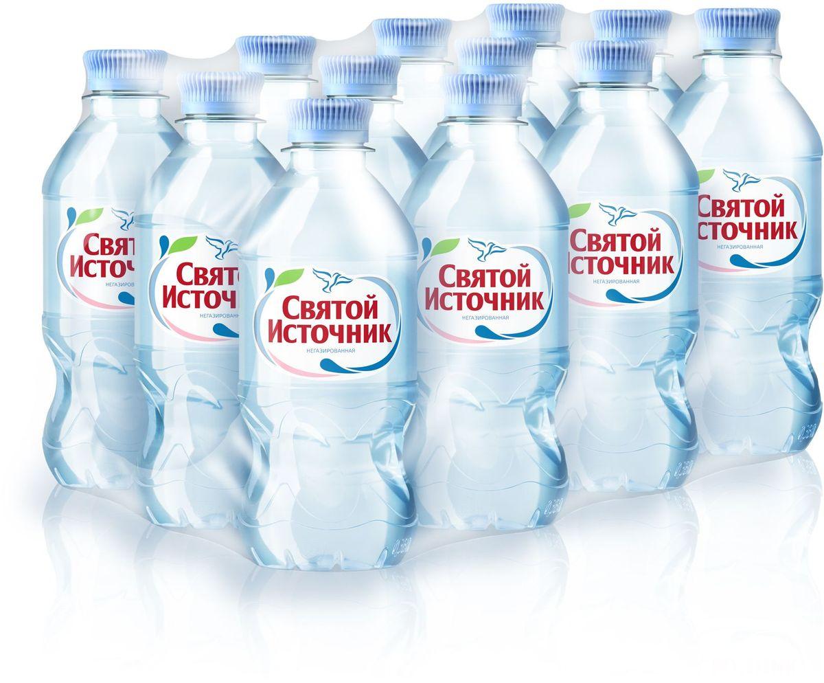 Святой Источник вода природная питьевая негазированная, 12 шт по 0,33 л 4603934001165