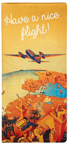 Обложка для документов Kawaii Factory Have a nice flight, цвет: оранжевый. KW066-000021KW066-000021