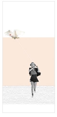 Обложка для документов Kawaii Factory Girl with bird, цвет: розовый. KW066-000028KW066-000028