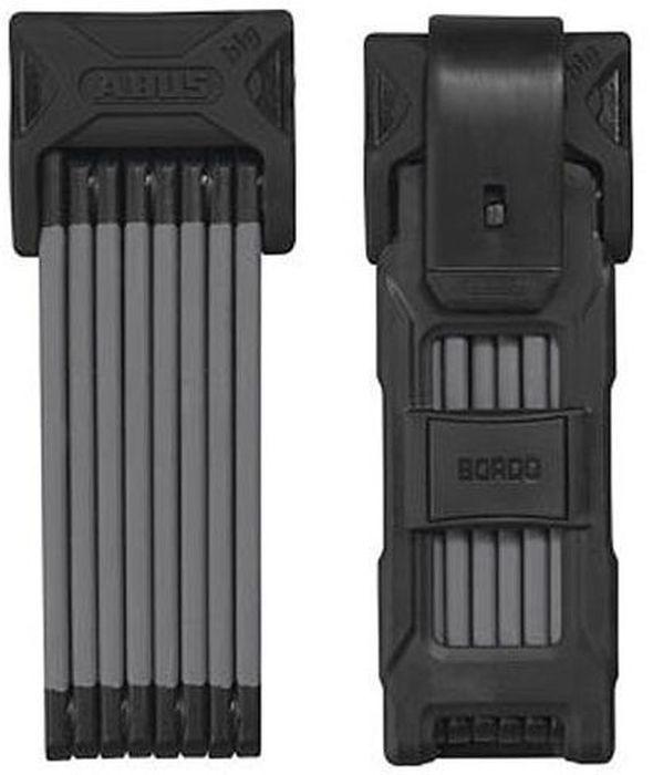 Велозамок с ключом Abus Bordo 6000/120, цвет: черный517945_ABUSТип: гибрид (скоба+цепь) Материал: закаленная сталь Длина/толщина: 1200мм/5мм