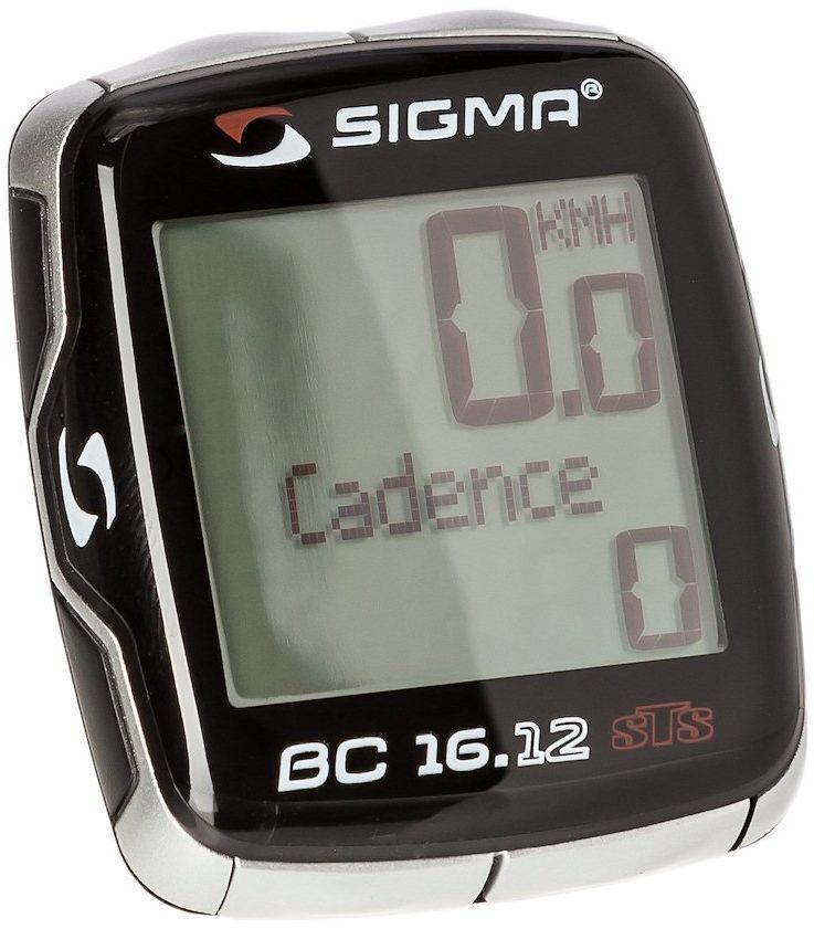 Велокомпьютер Sigma BC 16.12 STS Cad, 16 функцийSIG_06131Функции: текущая скорость средняя скорость максимальная скорость сравнение текущей и максимальной скоростей дистанция поездки общий путь для 1 / 2 / 1+2 велосипедов (не показывается во время движения) отдельный счетчик пути с ручным включением/выключением время в пути общее время 1 / 2 / 1+2 велосипедов (не показывается во время движения) отдельный счетчик времени с ручным включением/выключением часы таймер обратного отсчета текущая температура С этой моделью датчик каденса в комплекте Автоматическое включение/выключение при езде и остановке Автоматичекое распознавание второго велосипеда Влагозащищен Подсветка дисплея Сохранение данных при замене батарейки Индикатор разряда батареи компьютера и датчика Есть возможность подключения к компьютеру с помощью дополнительных аксессуаров