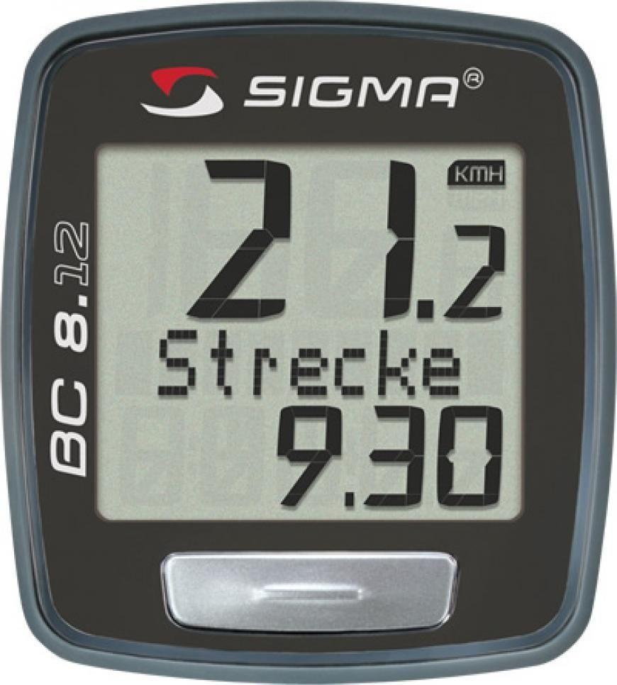 Велокомпьютер Sigma BC 8.12 Topline, 8 функцийSIG_08120Модель для тех, кто хочет сравнивать свою скорость в разные промежутки времени. Отлично подойдет для начинающих! Функции: - текущая скорость - средняя скорость - максимальная скорость - дистанция поездки - общий путь (не показывается во время движения) - время в пути - общее время за все поездки (не показывается во время движения) - часы Характеристики: - Автоматическое включение/выключение при езде и остановке - Влагозащищен - Есть возможность подключения к компьютеру с помощью дополнительных аксессуаров