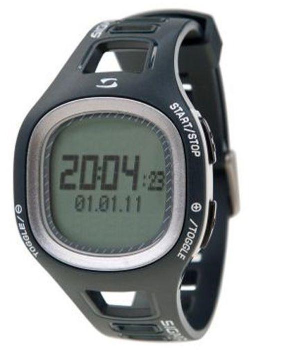 Пульсометр Sigma PC10.11, 10 функций, цвет: серыйSIG_21010Пульсометр (кардиомонитор, монитор сердечного ритма) представляет из себя портативное устройство определяющее ваш пульс. Современные пульсометры снабжены и многими другими полезными функциями - подбор программы индивидуальной тренировки, определение максимальной скорости, беговой индекс, определение кол-ва сожженных во время тренировки калорий и пр. Особенности: влагозащищенный ЭКГ-точность 3 кнопки Функции: тренировочный менеджер с 1 программируемой зоной текущий, максимальный и средний пульс счетчик калорий время тренировки и время в процентах для каждой тренировочной зоны звуковой и визуальный индикатор зон индикация зарядки батарейки Комлектация: Часы-пульсометр Аналоговый нагрудный передатчик + ремень к нему Русская инструкция