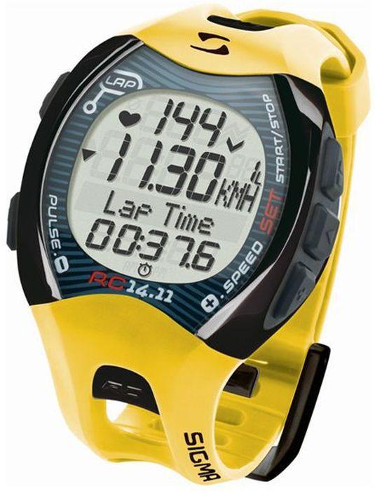 Пульсометр Sigma 14.11, c шагомером, цвет: желтыйSIG_21411Пульсометр (кардиомонитор, монитор сердечного ритма) представляет из себя портативное устройство определяющее ваш пульс. Современные пульсометры снабжены и многими другими полезными функциями - подбор программы индивидуальной тренировки, определение максимальной скорости, беговой индекс, определение кол-ва сожженных во время тренировки калорий и пр. Характеристики пульсометра: Режим тренировки: Секундомер Расстояние (км) Скорость (км/ч или мин/км) Время бега Время круга/промежуточное время Средняя частота ритма сердца Максимальная частота ритма сердца Калории Остаточное время журнала Всего Ккал* Длина круга Средняя скорость Максимальная скорость Часы Общее расстояние Общее время бега С помощью RC 14.11 можно выполнять тренировки с кругами. Беговой компьютер сохраняет значения отдельных кругов или отрезков дистанции. После и во время тренировки можно просмотреть значения в режиме обзора...