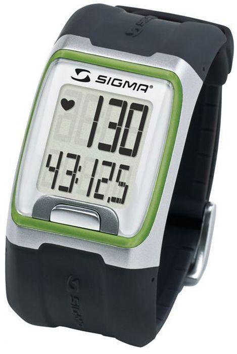Пульсометр Sigma PC 3.11, 3 функции, цвет: зеленыйSIG_23112Пульсометр (кардиомонитор, монитор сердечного ритма) представляет из себя портативное устройство определяющее ваш пульс. Современные пульсометры снабжены и многими другими полезными функциями - подбор программы индивидуальной тренировки, определение максимальной скорости, беговой индекс, определение кол-ва сожженных во время тренировки калорий и пр. Особенности: влагозащищенный ЭКГ-точность большой экран и цифры управление одной кнопкой секундомер с десятыми долями секунды и возможность его использования без надевания нагрудного датчика Функции: Пульс Часы Секундомер Комплектация: Часы-пульсометр (3 функции) Аналоговый нагрудный передатчик + ремень к нему Русская инструкция