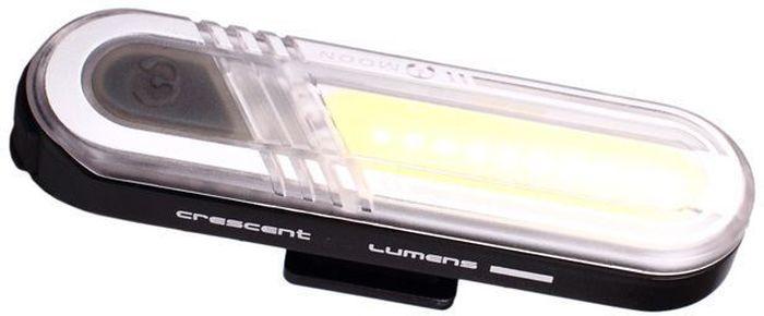 Фонарь передний Moon Crescent, 15 диодов, 6 режимов, USBWP_CRESCENT_WОсобенности - Матрица из 10 сверх-ярких белых LED светодиодов - Заряжаемая lithium polymer батарея( 3.7V 300mAh) - 6 вариантов работы : / Стандарт / Высоко / Максимум / 50% Вспышка /100% Вспышка /Стробоскоп - Быстросъемное крепление на руль /подседельный штырь ( 22-31.8mm) - Индикатор разряда и полной зарядки аккумулятора - USB зарядка - Функция автоматического отключения при полной зарядке - Боковое освещение - Влагозащищенная - Размер:70 x 19.5 x 12.4mm