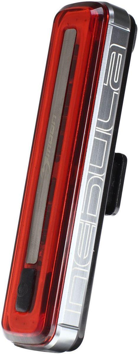 Фонарь задний Moon Nebula, 1 диод, 8 режимов, USBWP_Nebula_R1 плата из 30 диодов в форме овала сверх яркое красное свечение Литий Полимер аккумулятор (3.7V 280 mAh) Алюмииевый корпус с отводом тепла USB пульт управления фонарем 8 режимов Стандарт / Высоко / Максимум/Полная мощность /10% вспышка/50% Вспышка /100% Вспышка /Стробоскоп Быстросъемное крепление RB-22 (установка на любой руль) 2 O-rings для крепления: RS-G (для 20-35mm диаметра); RS-H (для 35-52mm диаметра) Индикатор разряда, зарядки и полной зарядки аккумулятора Функция автоматического отключения при полной зарядке Боковая заметность Влагозащищенный (IPX 4) Влагозащищенный USB порт Возможность крепления на ремни (рюкзаки, багажные сумки и.тд) Размер:93 x 22 x 17 mm