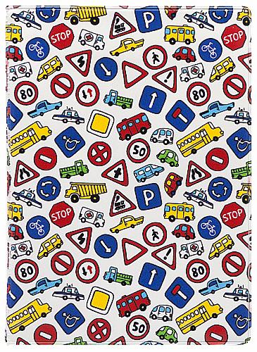 Обложка для автодокументов Kawaii Factory Дорожные знаки, цвет: белый. KW063-000060KW063-000060