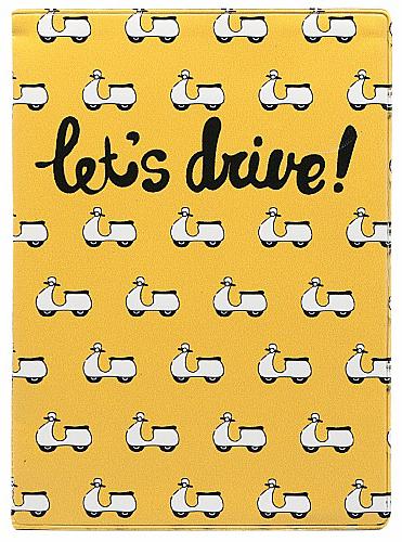 Обложка для автодокументов Kawaii Factory Lets Drive, цвет: желтый. KW063-000063KW063-000063