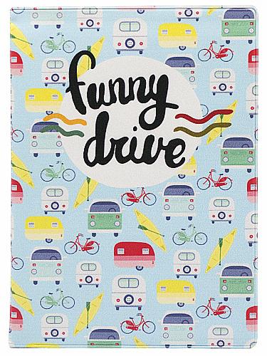 Обложка для автодокументов Kawaii Factory Funny drive, цвет: голубой. KW063-000062KW063-000062