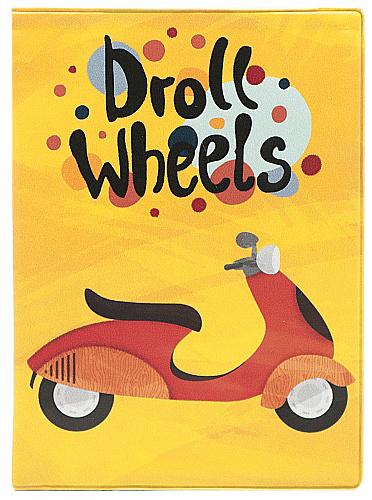 Обложка для автодокументов Kawaii Factory Droll Wheels, цвет: желтый. KW063-000061KW063-000061