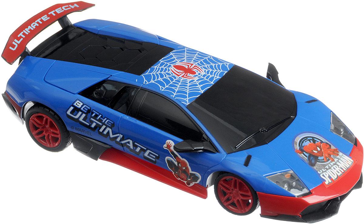 Rastar Радиоуправляемая модель Lamborghini Murcielago LP670-4 Великий Человек-паук39000-SP (18)Радиоуправляемая модель Rastar Lamborghini Murcielago LP670-4. Великий Человек-паук, в первую очередь, привлечет маленьких поклонников Человека-паука, потому что имеет особую окраску, характерную для этого супергероя. Машинка выполнена в масштабе 1:24 с большим вниманием к мелким деталям, и является уменьшенной копией оригинального автомобиля Lamborghini. Управление игрушкой происходит при помощи пульта, который работает на частоте 27 MHz, а радиус его действия составляет 10-15 метров. Автомобиль может перемещаться вперед-назад, вправо-влево. Скорость автомобиля составляет 6-7 км/ч. Радиоуправляемая модель подарит вашему ребенку увлекательный игровой процесс, позволит весело провести время. Порадуйте его таким замечательным подарком! Для работы автомобиля требуются 3 батарейки напряжением 1,5V типа АА (не входят в комплект). Для работы пульта управления требуются 2 батарейки напряжением 1,5V типа АА (не входят в комплект).