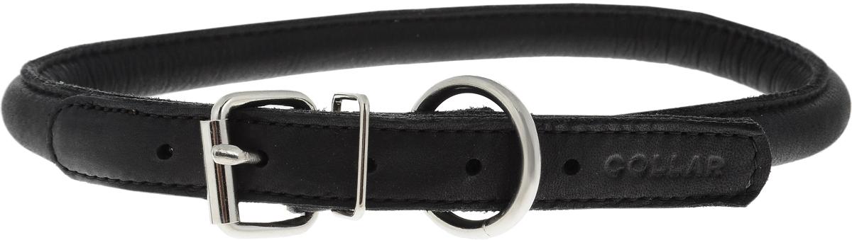 Ошейник для собак CoLLaR SOFT, цвет: черный, диаметр 1,3 см, обхват шеи 45-53 см02501Ошейник для собак CoLLaR SOFT, выполненный из натуральной кожи, устойчив к влажности и перепадам температур. Крепкие металлические элементы делают ошейник надежным и долговечным. Изделие отличается высоким качеством, удобством и универсальностью. Размер ошейника регулируется при помощи пряжки, зафиксированной на одном из 5 отверстий. Минимальный обхват шеи: 45 см. Максимальный обхват шеи: 53 см. Диаметр ошейника: 1,3 см.