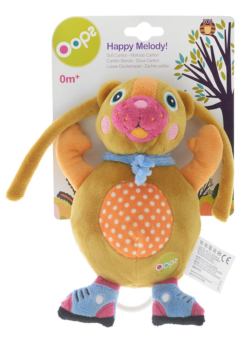 Oops Музыкальная игрушка-подвеска МишкаO 12002.00_мишкаМузыкальная игрушка-подвеска Oops Мишка изготовлена из мягкого и приятного на ощупь текстиля приятных тонов в виде милого медвежонка. Если вы потяните за пластиковое кольцо вниз, малыш услышит негромкую успокаивающую мелодию, которая заменит наскучившие колыбельные и поможет ему заснуть. Игрушка-подвеска выполнена из гипоаллергенного волокна. Крепится к кровати с помощью специальных веревочек. Игрушка-подвеска Oops Мишка развивает слух, моторику, зрительно-цветовое восприятие и обладает релаксирующим воздействием.