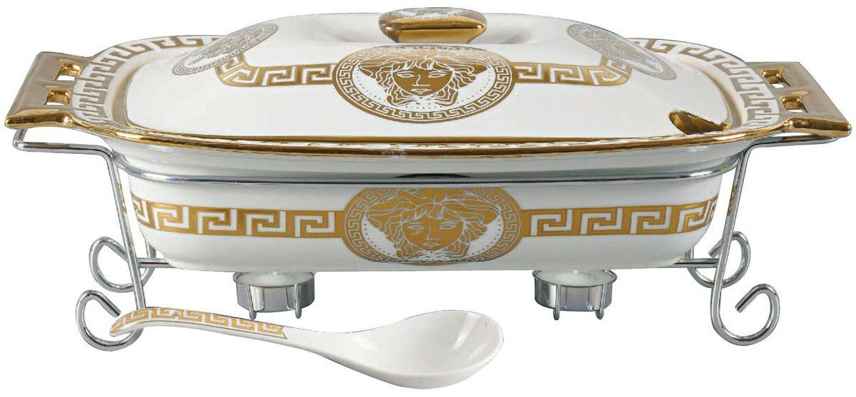 Мармит Madonna, цвет: белый, золотистый, 2,5 л. MA - 11371137MAФарфоровый мармит 2,5л. Прямоугольное фарфоровое блюдо с крышкой.Подставка под 2 свечи (включены). Фарфоровая поварская ложка - 1шт. Фарфоровое блюдо подходит для духовки, можно ставить в посудомоечную машину. Элегантный дизайн.