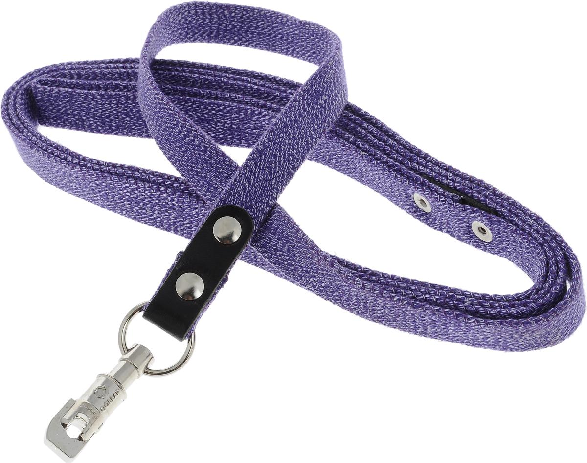 Поводок для собак CoLLaR, цвет: фиолетовый, ширина 2 см, длина 3 м03419Поводок для собак CoLLaR изготовлен из хлопка и снабжен металлическим карабином. Поводок отличается не только исключительной надежностью и удобством, но и ярким дизайном. Он идеально подойдет для активных собак, для прогулок на природе и охоты. Поводок - необходимый аксессуар для собаки. Ведь в опасных ситуациях именно он способен спасти жизнь вашему любимому питомцу. Длина поводка: 3 м. Ширина поводка: 2 см.