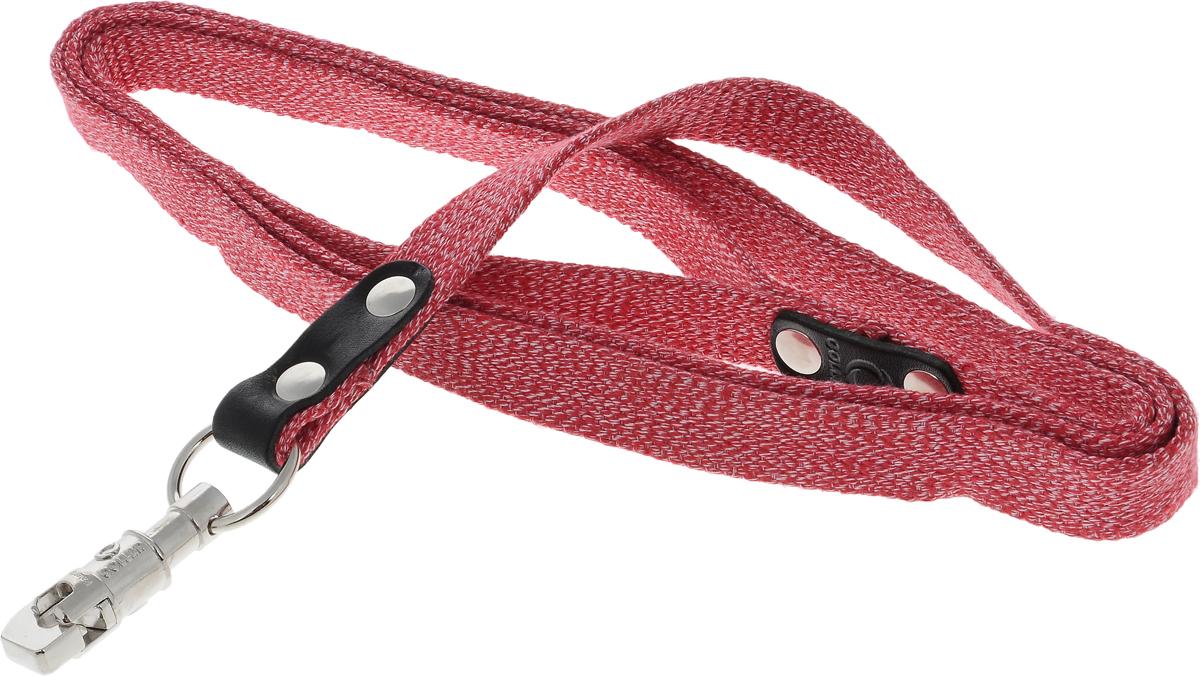 Поводок для собак CoLLaR, цвет: красный, ширина 2 см, длина 2 м03403Поводок для собак CoLLaR изготовлен из хлопка и снабжен металлическим карабином. Поводок отличается не только исключительной надежностью и удобством, но и ярким дизайном. Он идеально подойдет для активных собак, для прогулок на природе и охоты. Поводок - необходимый аксессуар для собаки. Ведь в опасных ситуациях именно он способен спасти жизнь вашему любимому питомцу. Длина поводка: 2 м. Ширина поводка: 2 см.