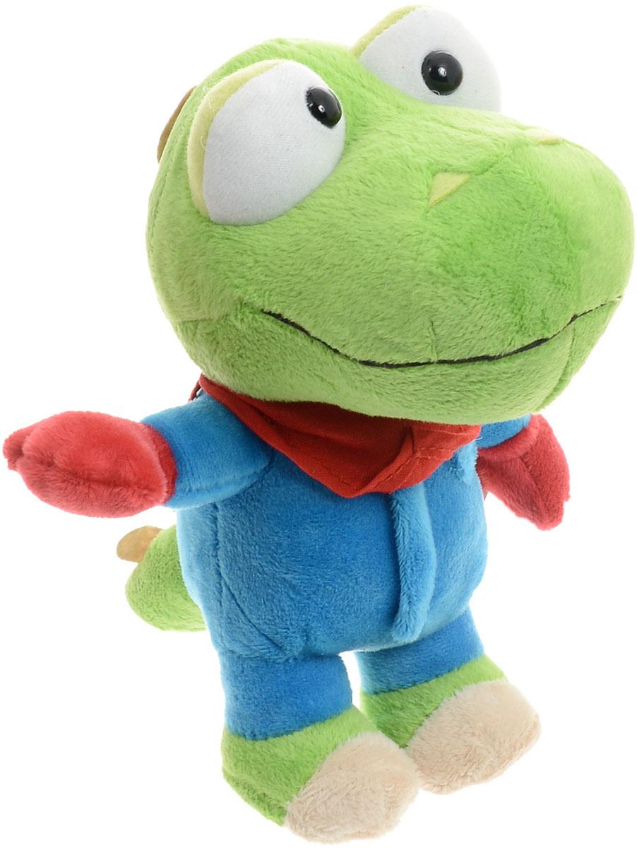 Мульти-Пульти Мягкая озвученная игрушка Динозаврик Кронг 17 смV92334/17Кронг - динозаврик (по внешности похож на крокодила), который живет с Пороро. Он, как правило, вместе с Пороро постоянно попадает в беду. Интересно, что только ему снятся настоящие сны. Мягкая озвученная игрушка Мульти-Пульти Динозаврик Кронг станет лучшим другом вашего малыша. С игрушкой можно играть не только дома, но и брать с собой, так как она обладает небольшим размером. Нажав Кронгу на живот, вы услышите фразы и песенку из мультфильма. Игрушка работает от незаменяемых батареек.