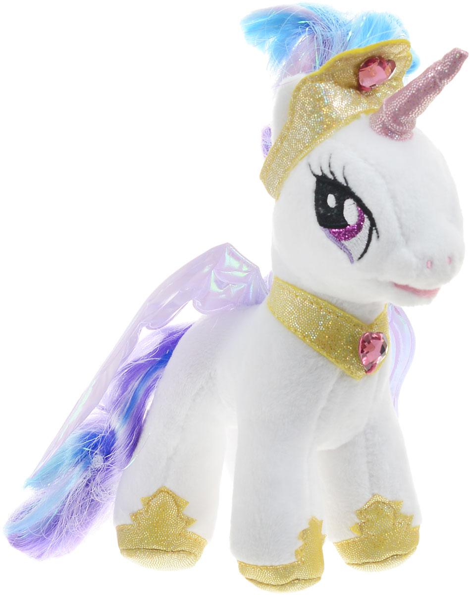 Мульти-Пульти Мягкая озвученная игрушка Пони Принцесса Селестия 18 смV27498/18Принцесса Селестия - принцесса, обязанность которой - поднимать солнце. Селестия - белая высокая пони-аликорн, с длинным рогом и пышными крыльями, с гривой и хвостом цветов северного сияния, которые волшебным образом развеваются, даже когда совсем нет ветра. Принцесса Селестия никогда не против шуток и розыгрышей. Очень спокойная и уравновешенная. Мягкая озвученная игрушка Мульти-Пульти Пони Принцесса Селестия обязательно привлечет внимание вашей дочурки. Игрушка выполнена из безопасных для ребенка материалов. При нажатии на игрушку ребенок услышит фразы и песенку из мультфильма. Игрушка работает от незаменяемых батареек.