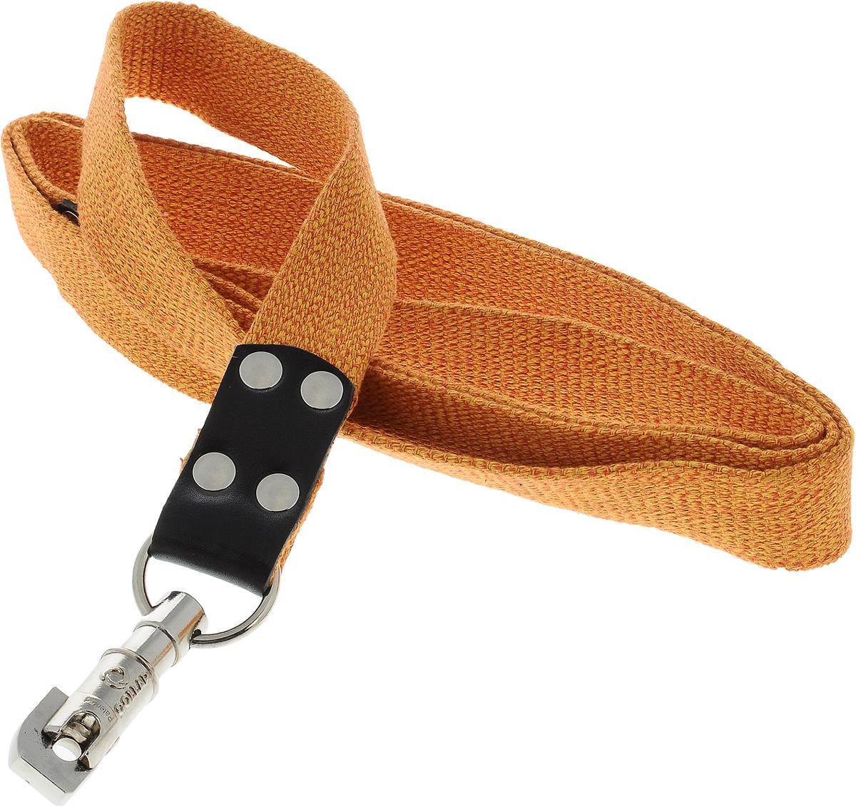 Поводок для собак CoLLaR, цвет: оранжевый, ширина 3,5 см, длина 2 м03444Поводок для собак CoLLaR изготовлен из хлопка и снабжен металлическим карабином. Поводок отличается не только исключительной надежностью и удобством, но и ярким дизайном. Он идеально подойдет для активных собак, для прогулок на природе и охоты. Поводок - необходимый аксессуар для собаки. Ведь в опасных ситуациях именно он способен спасти жизнь вашему любимому питомцу. Длина поводка: 2 м. Ширина поводка: 3,5 см.