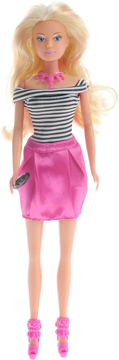 Simba Кукла Штеффи Forever цвет черный белый розовый5732321_черный, белый/полоска, розовыйКукла Simba Штеффи. Forever - настоящая модница, ее нарядам позавидует каждая модель с обложки глянцевого журнала, а длинные белокурые локоны не оставят никого равнодушным. Одета девушка в красивое платье, которое подойдет как для ежедневных прогулок, так и для встреч с подружками, а необычные аксессуары смотрятся очень оригинально и стильно. Кукла изготовлена из прочного и безопасного материала. Ее голова, руки и ноги подвижны, что позволяет придавать ей разнообразные позы. Благодаря играм с куклой, ваша малышка сможет развить фантазию и любознательность, овладеть навыками общения и научиться ответственности, а дополнительные аксессуары сделают игру еще увлекательнее. Порадуйте свою принцессу таким прекрасным подарком!