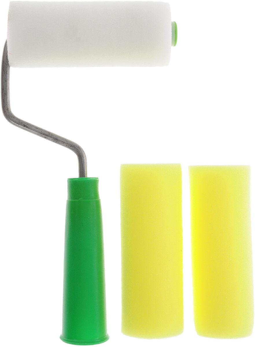 Валик малярный цвет: желтый, белый, зеленый