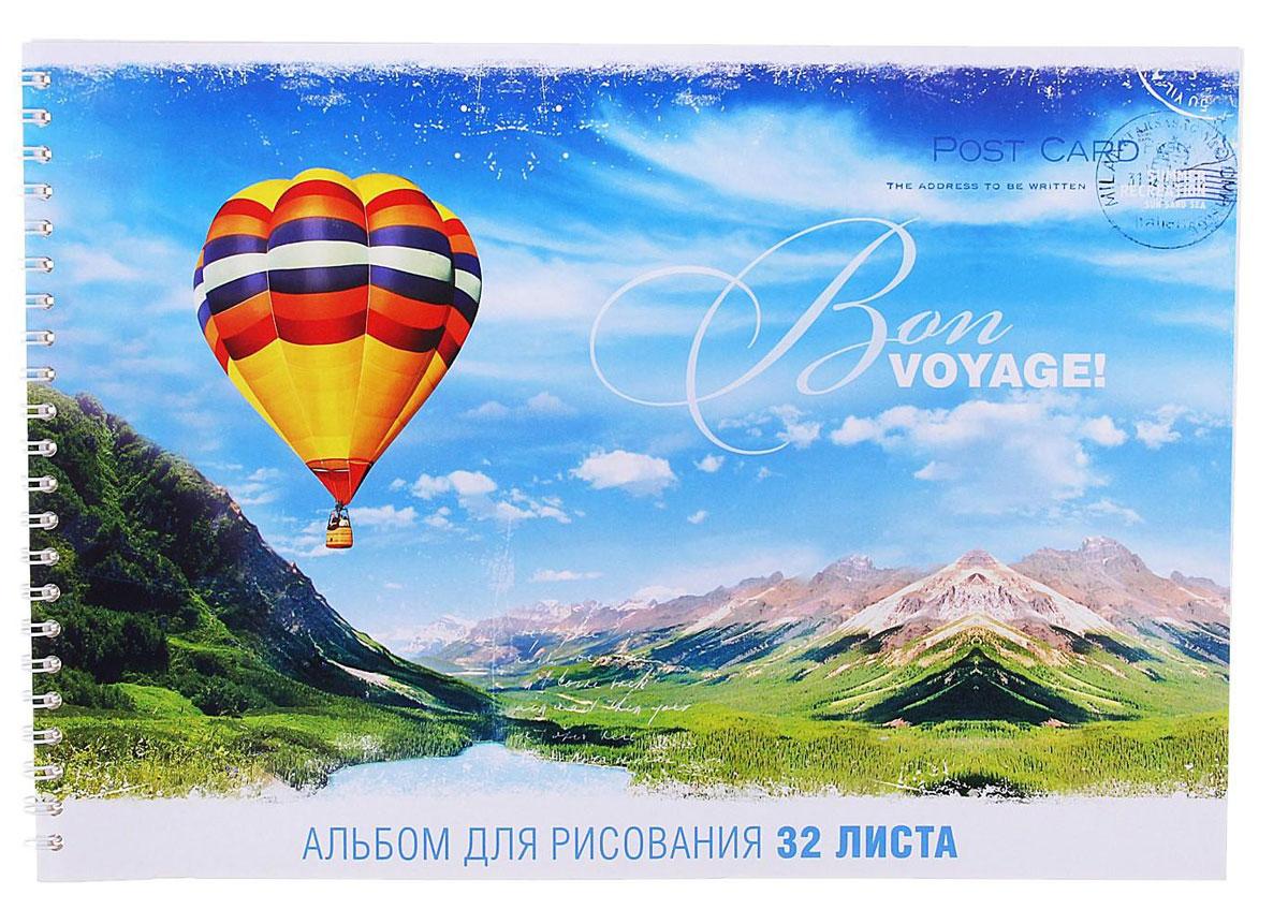 ArtSpace Альбом для рисования Bon Voyage 32 листаА32сп_2623Альбом для рисования ArtSpace Путешествия. Bon Voyage порадует маленького художника и вдохновит его на творчество. Альбом изготовлен из белоснежной бумаги с яркой обложкой из плотного картона. Внутренний блок альбома, соединенный металлическим гребнем, состоит из 32 листов. Высокое качество бумаги позволяет рисовать в альбоме карандашами, фломастерами, акварельными и гуашевыми красками.