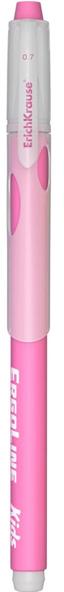 Erich Krause Ручка шариковая ErgoLine Kids цвет розовый 4154041540_розоваяЭргономичная шариковая ручка Erich Krause ErgoLine Kids станет незаменимым помощником в учебе или работе. Ручка с уникальной технологией Ultra Glide, обеспечивающей великолепное мягкое письмо, позволяет долго и легко писать практически без усилий. Треугольный корпус ручки со специальными выемками обеспечивает удобный захват и препятствует скольжению пальцев при письме. Товар предназначен для письма на бумаге. Рекомендована для дошкольников и школьников младшего возраста. Диаметр шарика 0,7 мм.