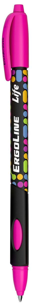 Erich Krause Ручка шариковая ErgoLine Life в блистере цвет розовый 4154241542_розовыйЭргономичная шариковая ручка в блистере с треугольным грипом и выемками для пальцев. D шарика 0.7 мм, толщина линии 0.35 мм.