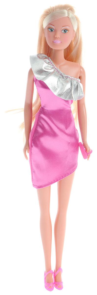 Simba Кукла Штеффи Chic! цвет платья розовый серебристый5736315_розовый/серебристыйКукла Simba Штеффи Chic! - это воплощение грации и женственности. Она одета в модельное платье, которое подчеркивает утонченность ее фигуры, ее стройные ноги и изящную талию. У куклы длинные светлые волосы, которые ваша дочурка сможет причесывать и заплетать ей различные прически. Кукла выполнена из качественных и безопасных материалов. Благодаря играм с куклой, ваша малышка сможет развить фантазию и любознательность, овладеть навыками общения и научиться ответственности. Порадуйте свою принцессу таким прекрасным подарком!